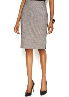 Alfani Prima Mesh Scuba Pencil Skirt