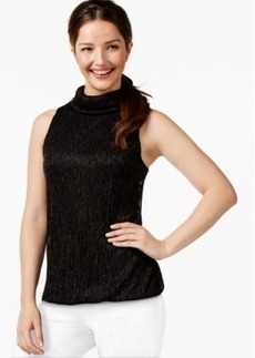 Alfani Prima Metallic Bubble-Hem Top, Only at Macy's