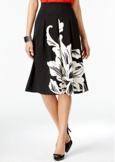 Alfani Prima Pull-On Printed Scuba Skirt, Only at Macy's