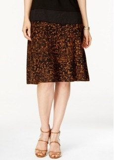 Alfani Printed A-Line Midi Sweater Skirt, Only at Macy's