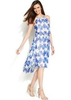 Alfani Printed Blouson Halter Dress