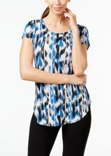 Alfani Printed Cap-Sleeve Top, Only at Macy's