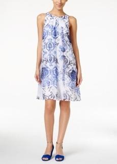 Alfani Printed Chiffon Trapeze Dress