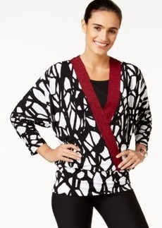 Alfani Printed Faux-Wrap Top, Only at Macy's