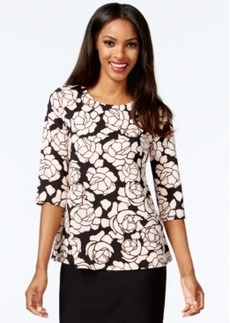 Alfani Printed Scuba Top, Only at Macy's