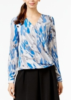 Alfani Printed Surplice Blouse, Only at Macy's
