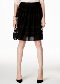 Alfani Pull-On Textured Mesh Skirt, Only at Macy's