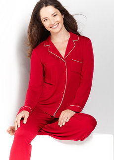 Alfani Red Rayon Knit Top and Pajama Pants
