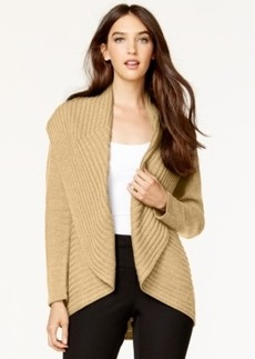Alfani Ribbed Cascade Cardigan, Only at Macy's