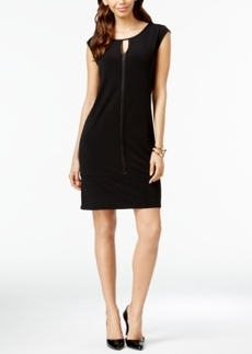 Alfani Satin-Trim Cap-Sleeve Dress, Only at Macy's