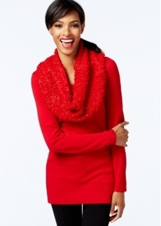 Alfani Sequinned Cowl-Neck Sweater, Only at Macy's
