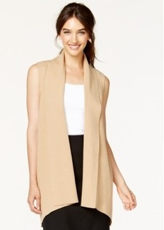 Alfani Shawl-Collar Long Sweater Vest, Only at Macy's