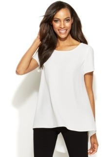Alfani Short-Sleeve High-Low Blouse