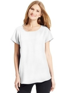 Alfani Short-Sleeve High-Low Top, Only at Macy's