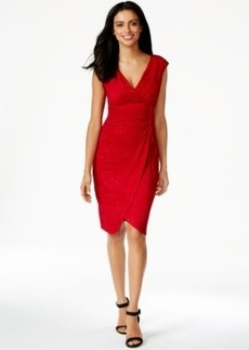Alfani Side-Tie Surplice Dress, Only at Macy's
