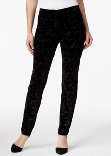 Alfani Skinny-Leg Printed Pants, Only at Macy's