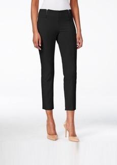 Alfani Skinny Pull-On Zipper-Detail Capri Pants, Only at Macy's