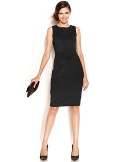 Alfani Sleeveless Banded Scuba Dress
