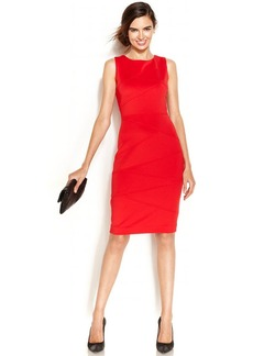 Alfani Sleeveless Banded Scuba Dress