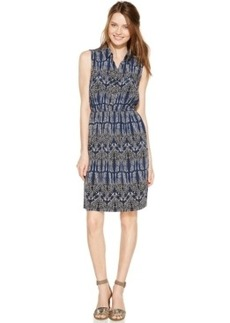 Alfani Sleeveless Giraffe-Print Shirtdress