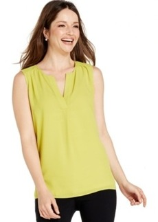 Alfani Sleeveless High-Low Blouse