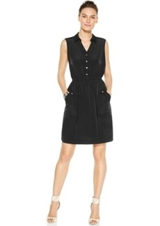 Alfani Sleeveless Pocketed Shirtdress