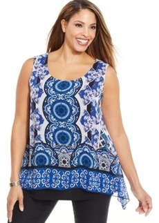 Alfani Sleeveless Printed Tunic