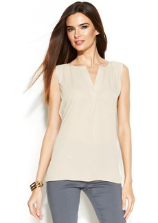 Alfani Sleeveless Split-Neck Blouse