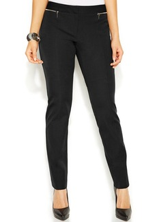 Alfani Slim-Leg Zip-Pocket Pants