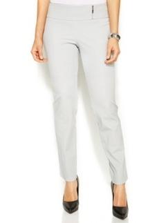 Alfani Slim-Leg Zip Tummy-Control Pants