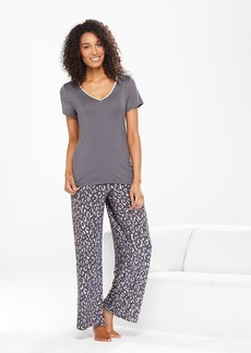 Alfani Slinky Knit Grey Cheetah Pajama Pants