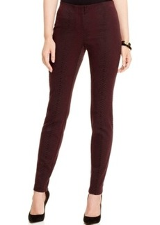 Alfani Snakeskin-Print Jacquard Pants, Only at Macy's