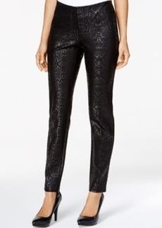 Alfani Snakeskin-Print Skinny Pants, Only at Macy's