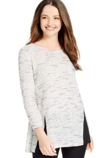 Alfani Split-Back Mixed-Media Sweater, Only at Macy's