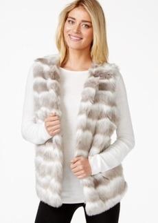 Alfani Striped Faux-Fur Vest
