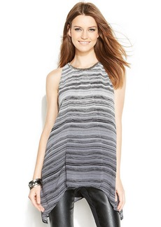 Alfani Striped Handkerchief-Hem Tunic