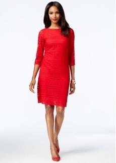 Alfani Striped Lace Shift Dress, Only at Macy's