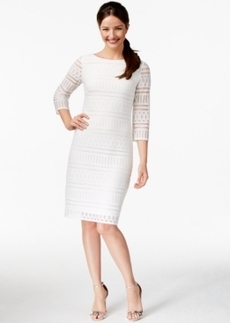 Alfani Striped Lace Shift Dress, Only at Macy's