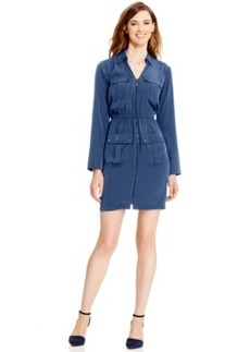 Alfani Tab-Sleeve Utility Dress, Only at Macy's