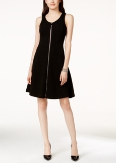 Alfani Textured Fit & Flare Sleeveless Dress, Only at Macy's