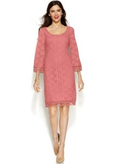 Alfani Three-Quarter-Sleeve Lace Dress