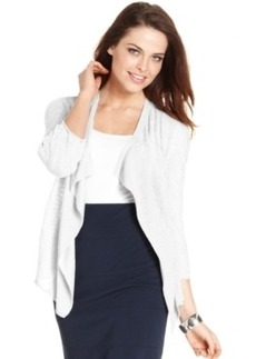 Alfani Three-Quarter-Sleeve Linen-Blend Cardigan