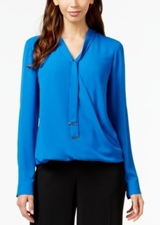 Alfani Tie-Neck Blouse, Only at Macy's