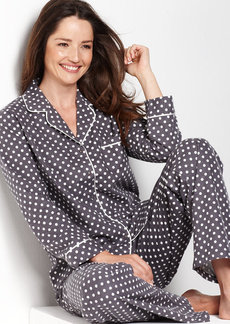 Alfani Top and Flannel Pajama Pants