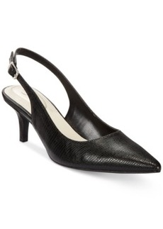 Alfani Women's Babbsy Pointed-Toe Slingback Pumps, Only at Macy's Women's Shoes