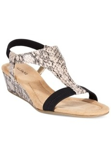 Alfani Women's Vacanzaa Wedge T-Strap Sandals, Only at Macy's Women's Shoes