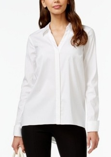 Alfani Zip-Back High-Low Shirt, Only at Macy's