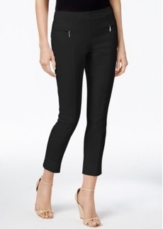 Alfani Zip Faux-Pocket Pull-On Capri Pants, Only at Macy's