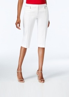 Alfani Zipper-Embellished Skimmer Pants, Only at Macy's