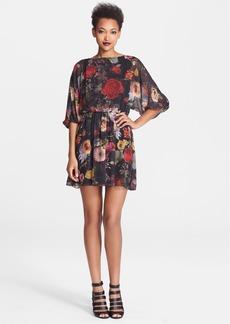 Alice + Olivia 'Andie' Floral Print Blouson Dress